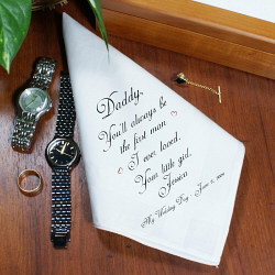 Keepsake Gift for Dad of the Bride from abernook.com