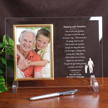 Walking with Grandpa Personalized Frame