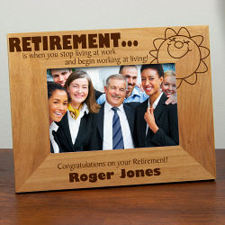 Personalized Retirement Gift Frame