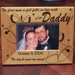 Daddy of the Bride Personalized Frame from abernook.com