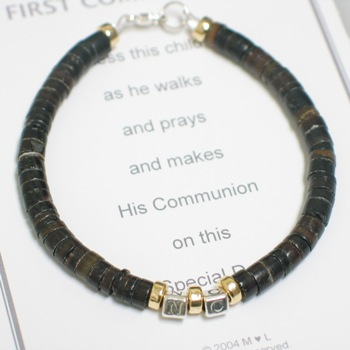 Communion Bracelet for Him from abernook.com
