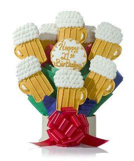 Happy Birthday Beers Cookie Gift Bouquet