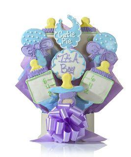 Baby Boy Gift Cookie Bouquet