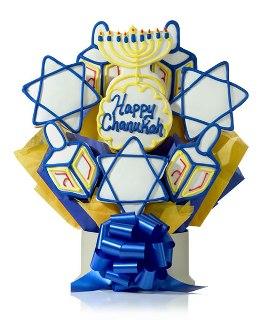 Happy Chanukah Cookie Gift Bouquet