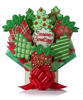 Seasons Greetings Cookie Gift Bouquet