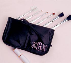 Antique Makeup Brush Set