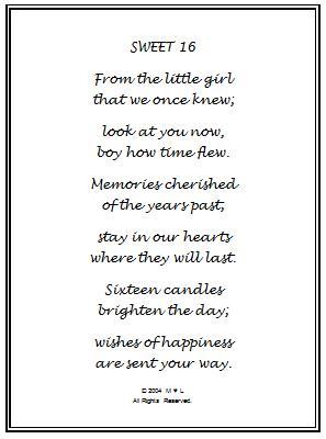 16th Birthday Wishes Gift Frame