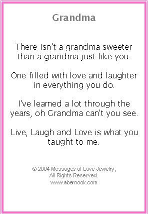 Poems About Granny 100