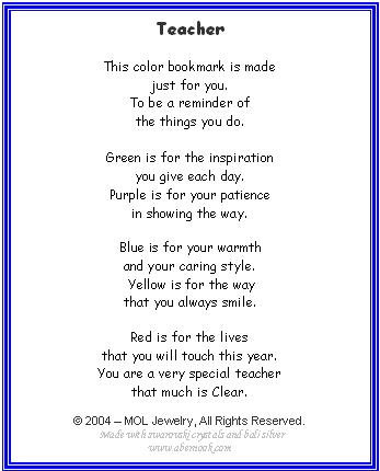 Pics Photos - Teacher Poems Image Search Results