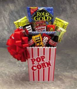 Popcorn Pack Gift Basket :  get well gift college gift basket college care package exam gift