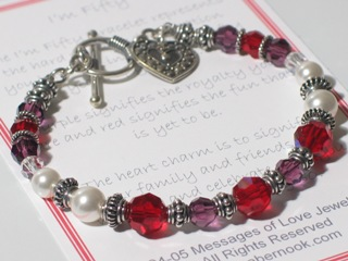 50th birthday gift bracelet from abernook.com