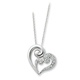 The pave CZs on the heart grow bigger representing how our love grows with each step of the journey. Give your mom a meaningful and keepsake gift idea...jewelry with a message.
