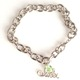 Celebrate a special 16th birthday with our silver toned adjustable style gift bracelet. A fun and trendy way to celebrate a 16th birthday. A swarovski bead hangs to signify the birth month. Sterling Silver 16 charm.