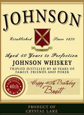 Personalized Jameson Label